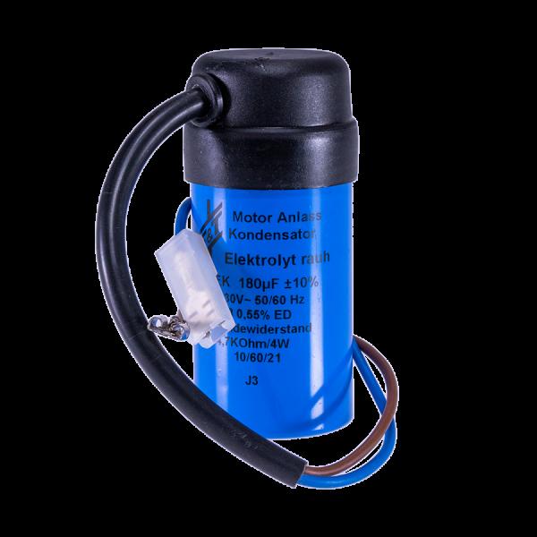 Anlass Kondensator blau 180uF 220V 50Hz fuer Mahlkoenig Mahlkoenig Kondensator 180uF Frontal