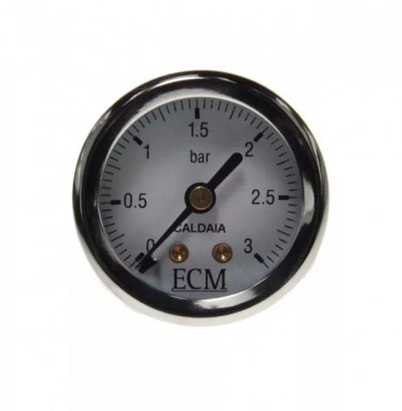 Manometer Kessel mit ECM Logo 3 Bar 0