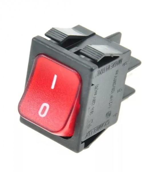 Netzschalter 2 Polig rot 16A 250V 0