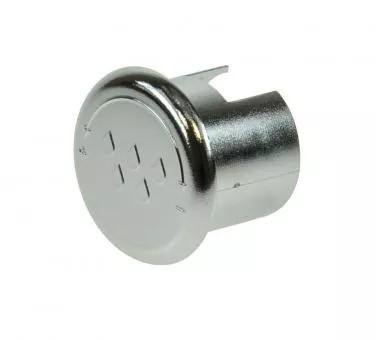 Deckel Heisswasserdrehknopf fuer BFC Silber 0
